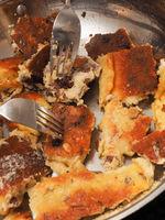Kaiserschmarrn, Austrian traditional dessert in a pan