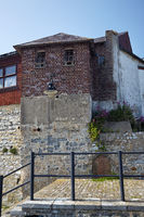 The house in Lyme Regis faces onto Lyme Bay. West Dorset. England.