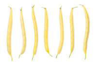 Yellow String Beans Isolated On White Background
