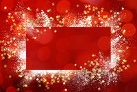 Design of winter New year or christmas background with copy space