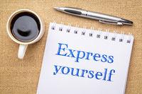 Express yourself inspiraitonal writing