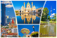 Vienna postcard city architecture and nature view