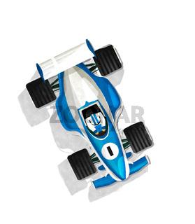 Watercolor racing car