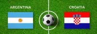 Football match Argentina vs. Croatia