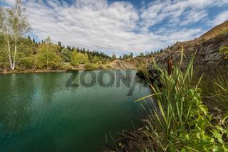 Blue lake in Altai
