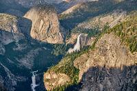 Yosemite National Park Valley summer landscape, Glacier Point