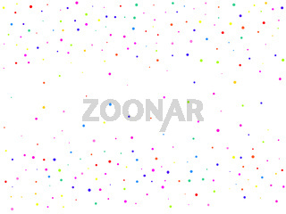 Background with colorful glitter, confetti. Polka dots, circles, rounds. Fiesta pattern. Vector illustration