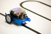 Self-made robot by student Start