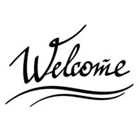 Welcome Hand Drawn Banner