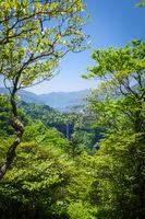 Kegon falls and Chuzenji lake, Nikko, Japan