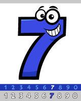 number seven cartoon character