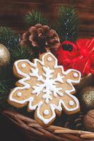 Christmas gingerbread cookie