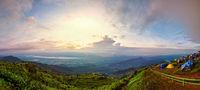 Panorama Phu Thap Berk at the sunrise