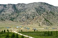 Feriensiedlung im Gorchi-Tereldsch-Nationalpark, Tereldsch, Mongolei