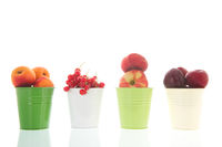 Green buckets fresh fruit