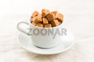 Brown sugar cubes.