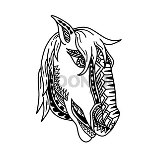 Horse Head Tribal Tattoo