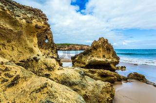 Picturesque coastal cliffs