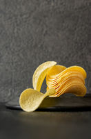 Potato chips on the plate