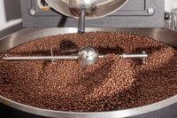Kaffeebohnen beim abkühlen