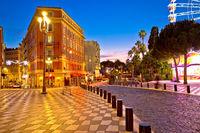 Street of Nice evening view