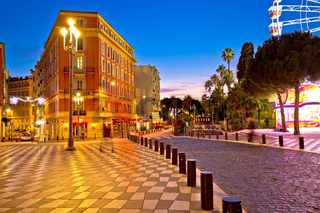 Street of Nice evening view