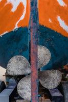 Four blades fisherman boat propeller