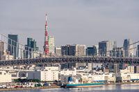 Tokyo Tower Rainbow bridge