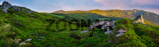 Carpathian Mountain summer panorama