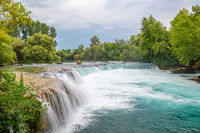 View of falls of Manavgat in Turkey removed beautifully with long exposure