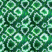 Green realistic snake skin texture, detailed seamless pattern