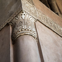Decorative column capital at Ibn Tulun historic public mosque, Cairo, Egypt