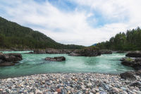 Katun river, in the Altai mountains