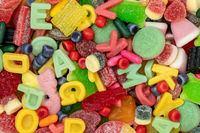 Various colorful candies