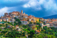View of Perinaldo in the Province of Imperia