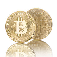 Bitcoin isolated on white background with reflection
