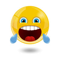 Yellow smiley emoticons, emoji, vector illustration.
