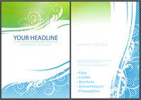 Flyer Design with Elegant Florals