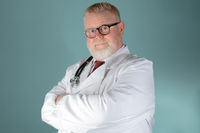 Confident adult doctor looking at the camera