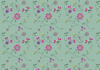 Colorful floral pattern. Vector pattern. Background with flowers.