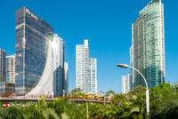 skyscrapers of the Bellavista district of Panama City in a sunny day