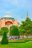 Park in Sultanahmet square in Istanbul