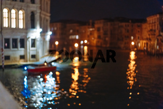 A view of the canal at night. Venice, Italy