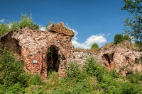 Ruins in fortress of Oreshek, Russia