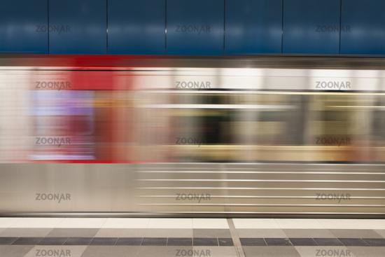 U-Bahn in Bewegung