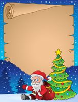 Parchment with Christmas thematics 2