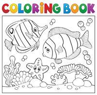 Coloring book sea life theme 4