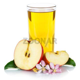 Apfelsaft Apfel Saft frisch Äpfel Glas Fruchtsaft Quadrat freigestellt isoliert