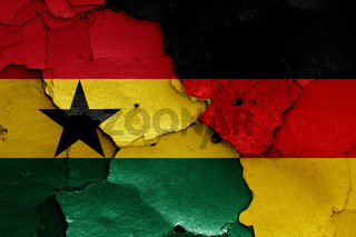 flags of Ghana and Germany