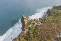 Aerial view of Uluwatu cliffs in Bali
